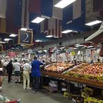 Aisles of dry goods, produce, meats, dairy, and seafood products!