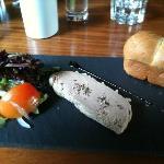 starters Chicken liver pâté . delicious