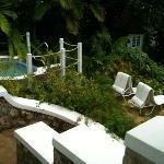 hot tub and gardens of private villa