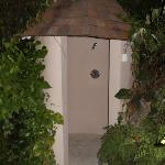 outdoor shower at private villa