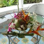 lovely gift from our gardener at the private villa