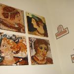 Dipinto raffigurante le donne etrusche
