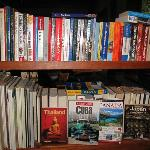Our hosts' travel library; they know travelers' needs