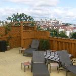 The rooftop sundeck