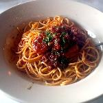 The hearty and spicy Spaghetti Diavolo.