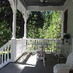 The front porch where you can sit all day if you want and relax