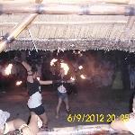 fire dancing...