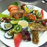 Seafood Grazing Platter - matched to Hunter White Wine