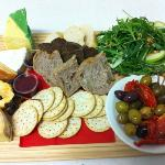 cheese platters with condiments available for eat in or take out