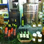 Local Olive Oils, Breads, Meats and Chutneys/Jams to sample