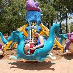 Scary dragon ride for littlies (and mums!)