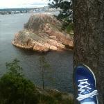 utsikt fra Odderøya med joggesko