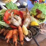 Cold seafood platter for one! Delicious!