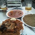 arroz con pescado y carne con cuscus