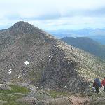View from the summit ridge of Ben Crauchan