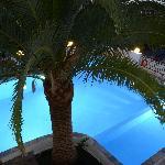La piscina desde el primer piso