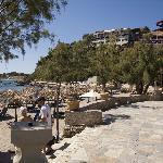 Mavratzis beach with hotels above