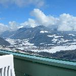 Blick vom Balkon über das Pustertal
