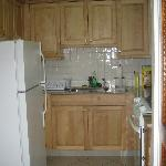 Ample kitchen