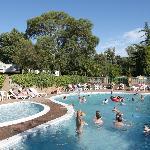 Fabulous outdoor heated fun pool