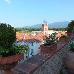 View from theChateau d'Ortaffa balcony