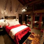 The High West well appointed guest rooms with European bedding is found through out Rivers Bend
