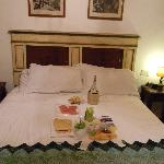 Bed - with a dinner from a market right down the way - recommended by Graziella