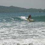Olivia catches a wave!