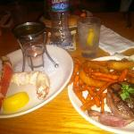 Filet Mignon, King Crab & sweet potato fries