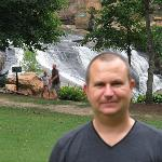 Downtown Greenville at the falls