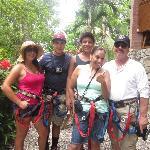 Canopy tour zip line!
