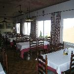 Typical Spanish dining room with seaview