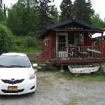 Front view of our cabin