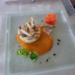 Seafood tartare.