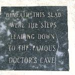 Plaque at Doctor's Cave Beach