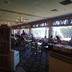 Full length window in restaurant