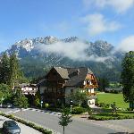 zicht op Dachstein