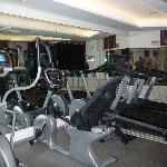 salle de gym, petite mais sympa et suffisante
