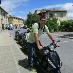 During one of our Vespa tour stops of the day .... great fun !