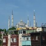 la mosquée bleue vue du toît de l'hotel