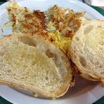 The toast looks good