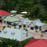 mahogany bay market place from the ship Clip n Zip top center white roof