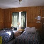 Twin bed room in headwaters complex.