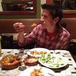 paella, chorizo croquettes ( we devoured them) and the salad... yum!!