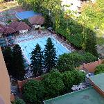 View of the pool from our balcony