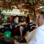 People in the hotel lobby