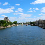 view of the seine and pont royal from the passerelle