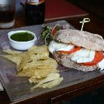 Buffalo Mozzarella, Tomato and Pesto Ciabatta (£6.95)