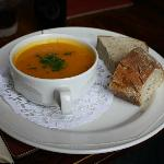 Carrot and Coriander Soup (£4.25)
