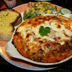 Homemade Vegetable lasagne (£9.95)